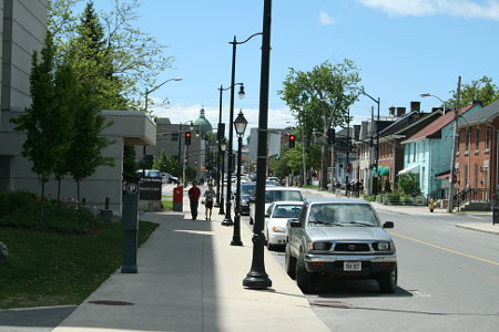 View down Wellington Street towards downtown