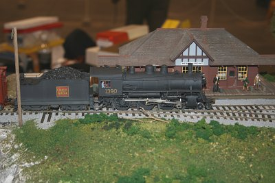 S-scale locomotive