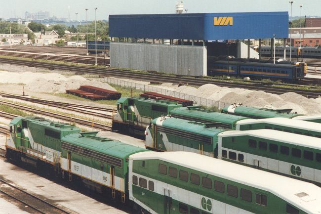 GO Trains at Mimico
