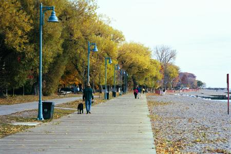 Separate walking and cycling trails on Toronto's beach strip (Image Credit: boldts.net)