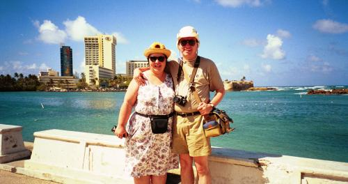 Sylvana and Hans in San Juan, Puerto Rico