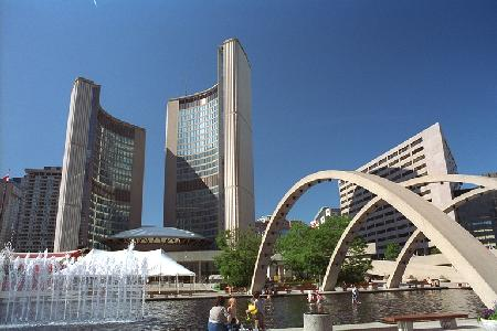Nathan Phillips Square is the official heart of the city.