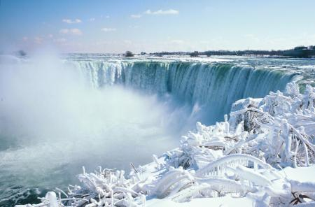 Photo of Niagara Falls in winter