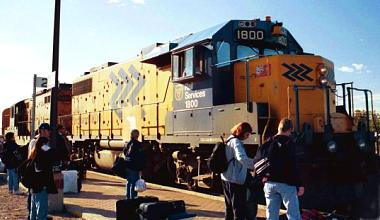 Ontario Northland locomotive 1800 at Cochrane