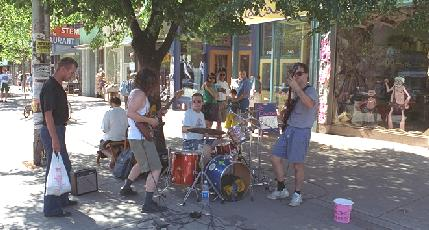 Street band on Queen Street West