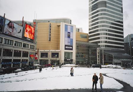 Dundas Square in winter