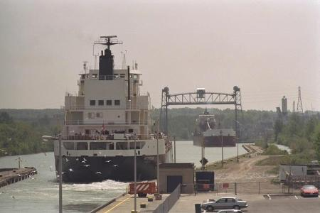 Photo of ships in Welland Canal