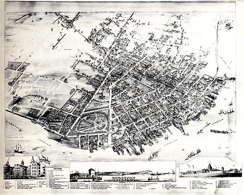 Map Kingston in 1875